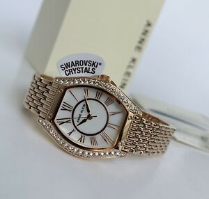 Anne Klein Watch * 3772MPRG Swarovski Mother of Pearl Rose Gold Steel for Women