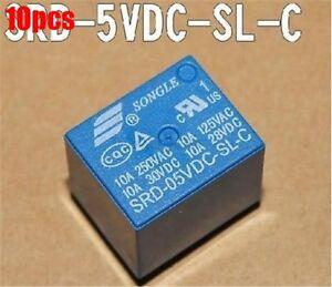 10Pcs-Pcb-Type-Power-Relay-SRD-5VDC-SL-C-5V-Dc-Mini-Songle-New-Ic-ek
