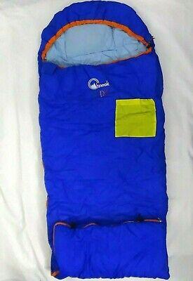 Sleeping Bag Camping Blue Tapered Hood