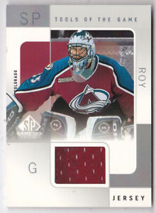2000-01-SP-Game-Used-Tools-of-the-Game-PR-Patrick-Roy-Jersey