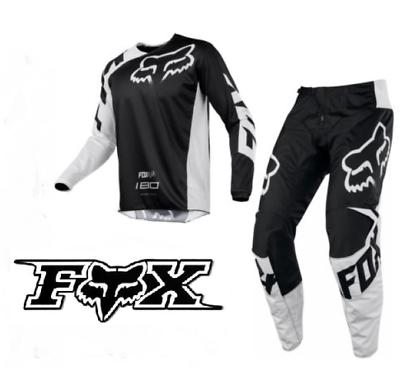 FOX 180 Motocross Pants /& Jersey combo NEW #40 //2XL blk Dirt bike MX ATV