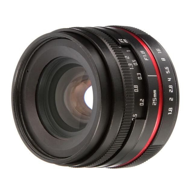 25mm F1.8 Manual Focus Prime Lens APS-C for Fujifilm X mount Mirrorless Camera