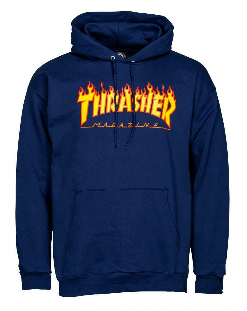 Thrasher Flammenlogo - Skateboard Kapuzenpullover - Top mit Kapuze /