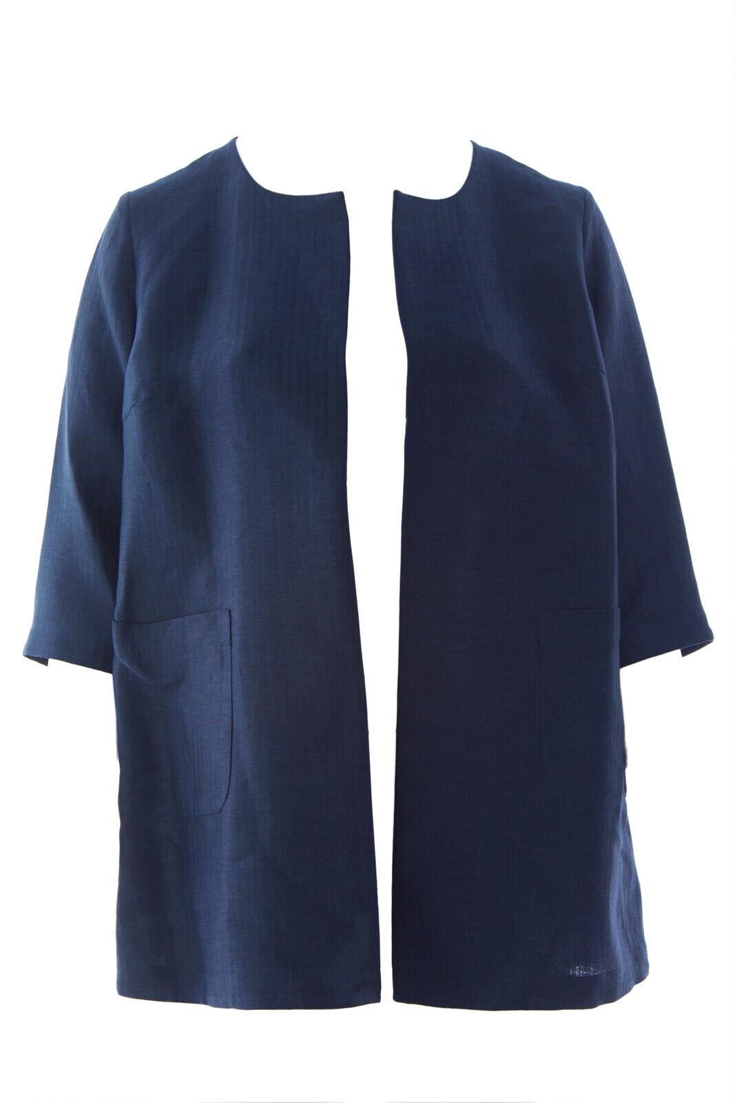 Marina Rinaldi Mujer Azul Marino  Festante Frente Abierto Chaqueta  hasta 42% de descuento