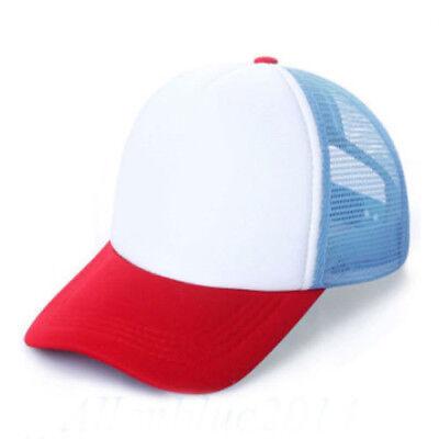 Kid Child Red White Blue Adjustable Baseball Cap Stranger Things Dustin Boy Girl