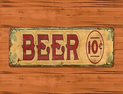 "TIN SIGN /""Dixie Beer/"" Bar Garage New Orleans Mancave Wall Decor"