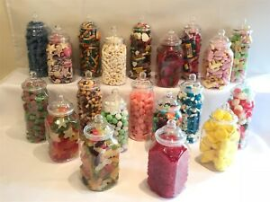 SLIGHT-SECONDS-20-10-Plastic-Sweet-Candy-Jars-Wedding-Party-Candy-Buffet