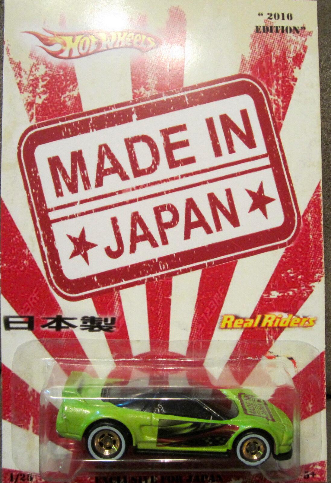 Hot Wheels Personnalisé Personnalisé Personnalisé '90 Acura Nsx   Fabriqué en Japon   Real Riders Ltd 1 25 12f97c