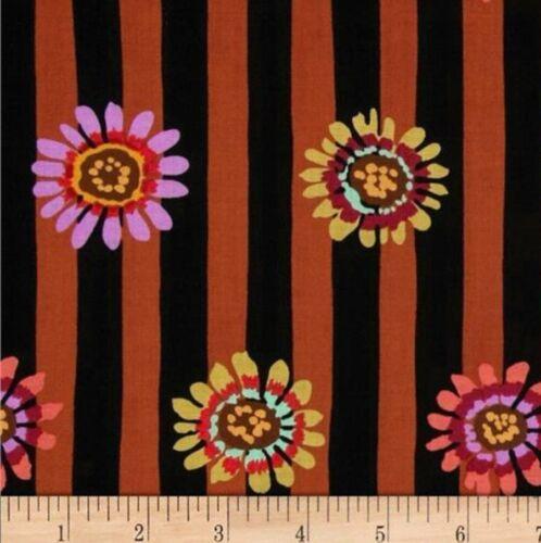 Kaffe Fassett Regency Daisy Stripe Cotton Fabric PWGP146 Brown BTY