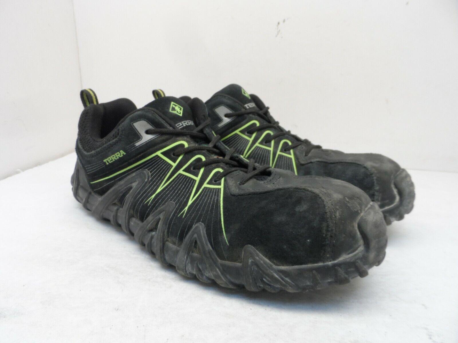 Terra Men's Spider 3.0 Composite Toe Work Shoe Black/Green Size 10.5M