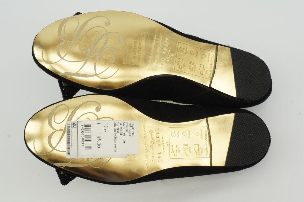 185 NEW Ted Baker Etaj Black Suede Ballet Ballet Ballet Flats 6   37 Ballerina shoes NIB feb1ae