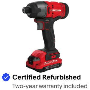 Craftsman CMCF800C2R 20V 1/4 in. Impact Driver Kit 1.3 Ah Certified Refurbished