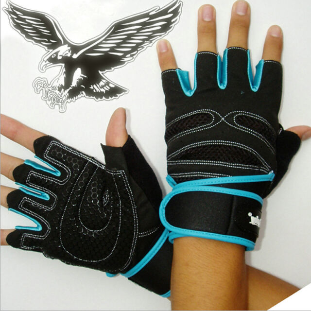 Weightlifting Gym Gloves Training Fitness Workout Wrist Wrap Sports Exercise m2