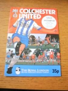 06101982 Colchester United v Southampton Football League Cup  No obvious fa - <span itemprop=availableAtOrFrom>Birmingham, United Kingdom</span> - Returns accepted within 30 days after the item is delivered, if goods not as described. Buyer assumes responibilty for return proof of postage and costs. Most purchases from business s - Birmingham, United Kingdom