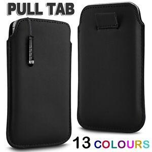 PREMIUM-PU-LEATHER-PULL-FLIP-TAB-CASE-COVER-amp-MINI-STYLUS-PEN-FOR-MOBILE-PHONES