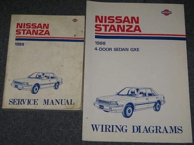 1988 Nissan Stanza Service Manual Set | eBay