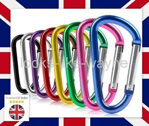 10pcs D Shape Carabiner Clip Clasp Spring Hook Keyring Buckle Carabina Karabiner