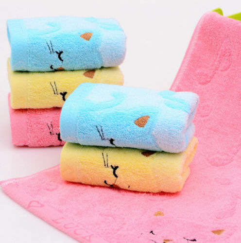 FD5125* High Quality Korea Notes Cats Towels Cotton Cleansing Absorbent Towels