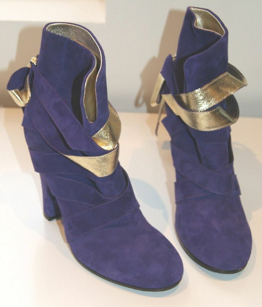 Marc by Marc Jacobs funky gold and purple boots, NWTB
