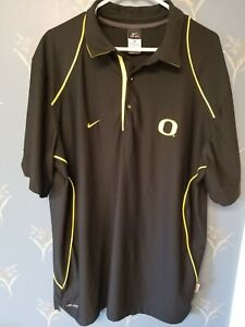 Oregon-Ducks-Nike-Polo-XL-Extra-Large-Black-Dri-Fit