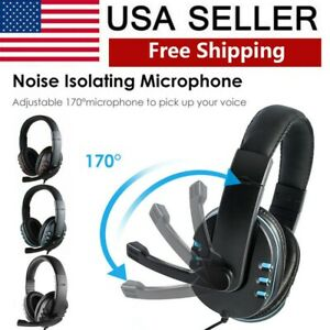 3.5Wired Stereo Bass Surround Gaming Headset for PS4 New Xbox One PC with Mic US