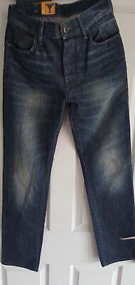 100% Vero G Star Jeans Lame Conico W29 L 31 Nuovo-mostra Il Titolo Originale