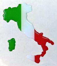 Kfz-Aufkleber Landkarte Silhouette Flagge 3D Italien Italia Italy Tricolore Helm
