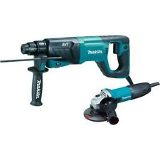 Makita Avt Rotary Hammer Drill 1 In 8 Amp Angle Grinder 4 12 In Corded