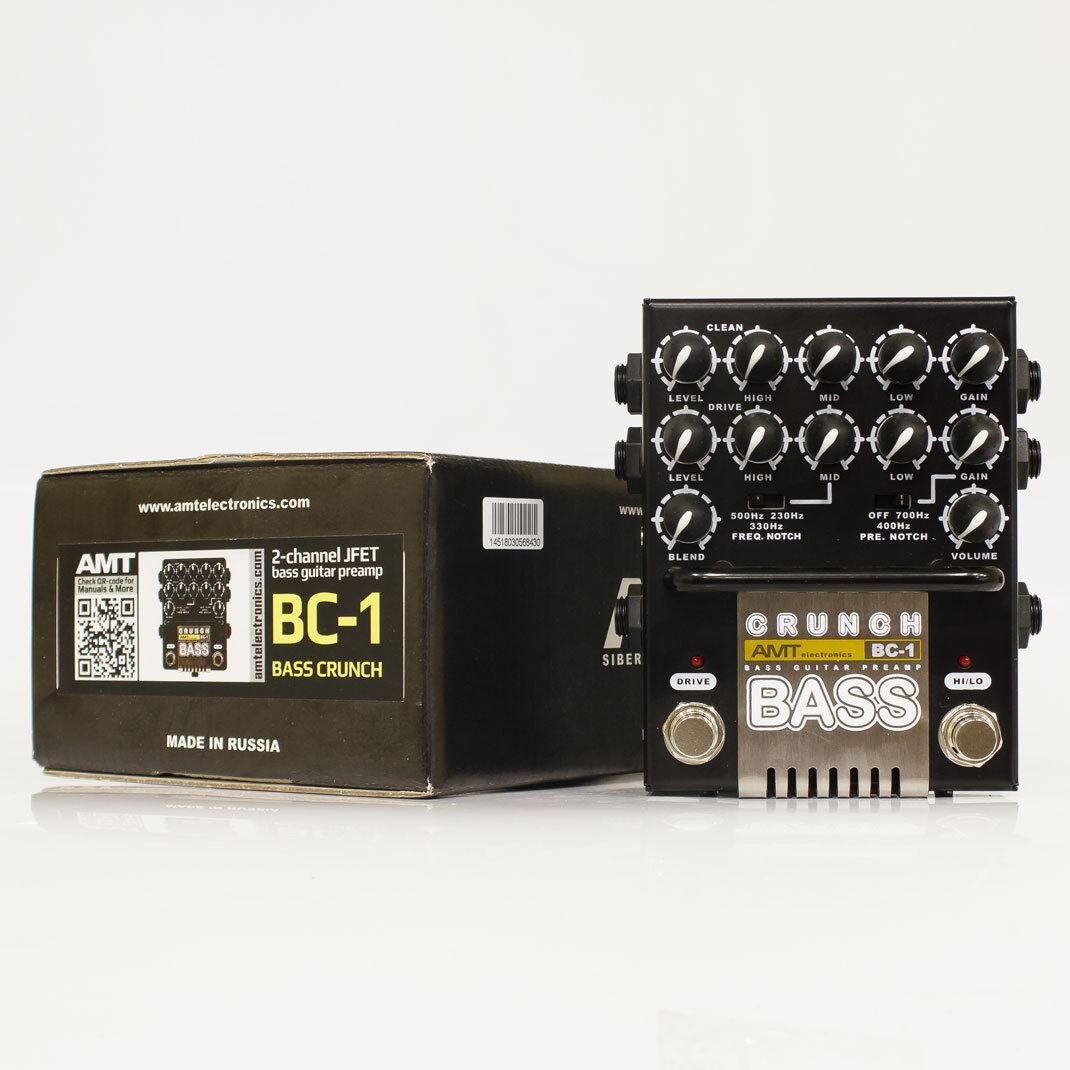 AMT Electronics AMT AMT AMT BC-1  Bajo Crunch  – 2 canales de Preamplificador De Bajo Guitarra 19ff7b