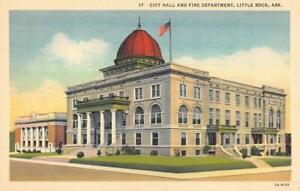 LITTLE ROCK, AR Arkansas CITY HALL & FIRE DEPARTMENT c1940's