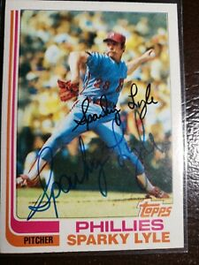 1982-Topps-Sparky-Lyle-Auto-Autograph-Card-Phillies-Red-Sox-Yankees-Signed-285