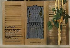 GM19 Country Window Shutter Curtain Plant Hanger Patterns Macrame Mischief Book