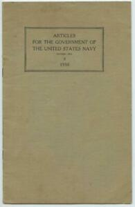 Articles for the Government of the United States Navy