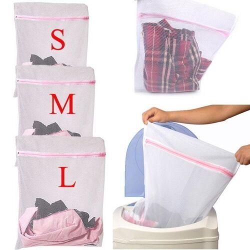3 Sizes Zipped Laundry Washing Bag Laundry Bags Net Mesh Socks Bra Clothes