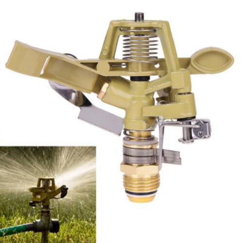 360° Rotary Zinc Alloy Water Irrigation Sprayer Sprinkler For Garden Yard Lawn