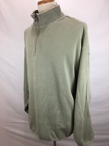 Tommy-Bahama-Green-1-4-Zip-Long-Sleeve-Pullover-Cotton-Sweater-Shirt-Men-039-s-2XL