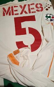 maglia-roma-match-worn-diadora-Mexes-2004-2005-cod-A-player-issue-mazda