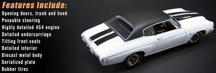 1970 Chevelle blanc 1 18 1805508 w vinyl top