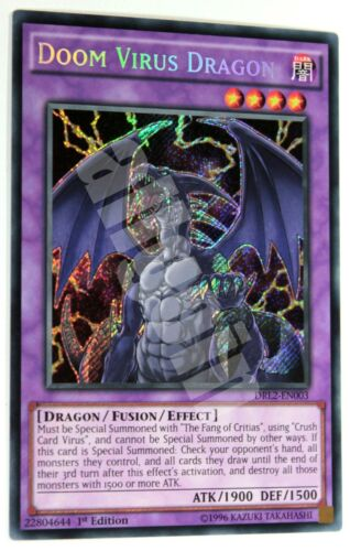 DRAGO VIRUS DEL DESTINO DRL2-EN003 x1 DOOM VIRUS DRAGON Secret Rare