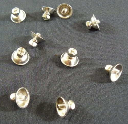 10 Mounting Screws w// Cup Washers for Steel Drum Shells Lugs or Butt Plates