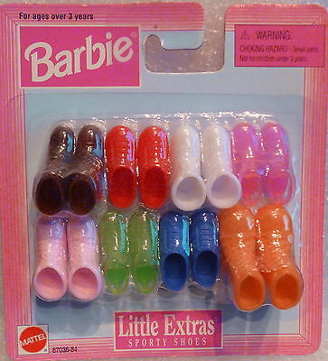 """Barbie Shoes -"""" Little Extras """" Sporty Shoes Shoes  NEW By Mattel"""