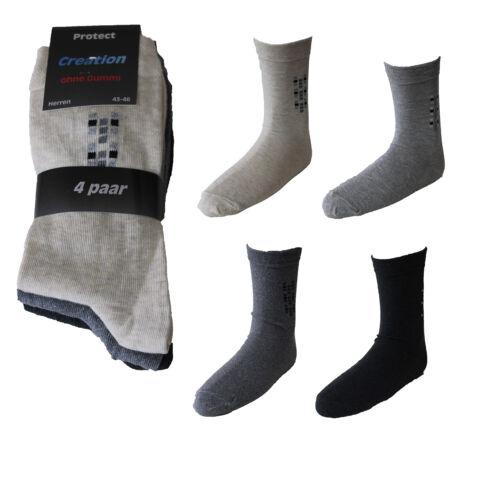 8 Paar Herren Diabetiker Socken mit Design ohne Gummi