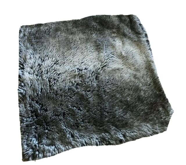 Pottery Barn Faux Fur Pillow Cover Ombre Gray Sham Square