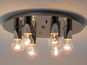 Plafoniere Da Salotto : Lampadario plafoniera design moderno cromo camera da letto salotto