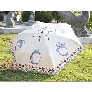 My Neighbor Totoro Strong Water-repellen<wbr/>t Anti-UV Folding Parasol Sun Umbrella