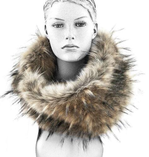 Foulard fourrures scarf faux Loop fur Echarpe fourrure synthétique La fourrure webpelz col cheminée Fake