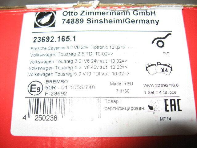 Zimmermann BREMSSCHEIBEN 330mm BELÄGE HINTEN VW TOUAREG 7P PORSCHE CAYENNE 92A