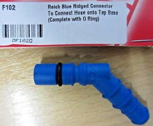 Reich Replacement Ridged Inlet Connector Blue  -  F102