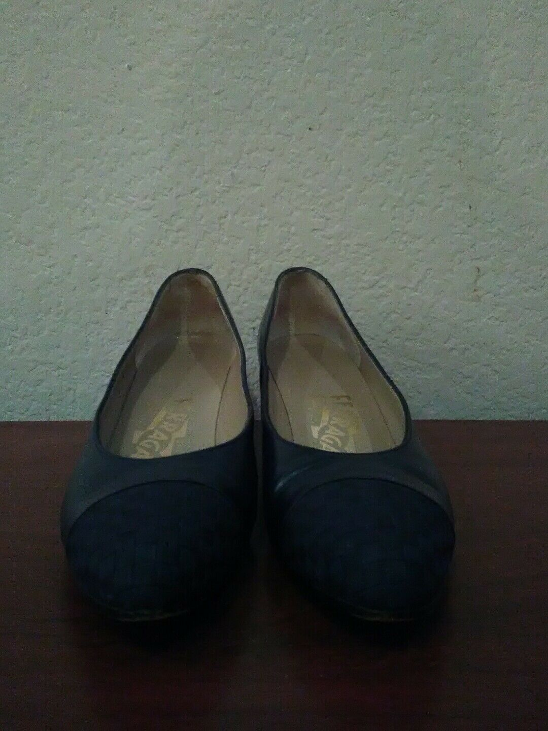 Salvatore Salvatore Salvatore ferragamo damen Blau leather schuhe sz 5 1 2 AA b961d5