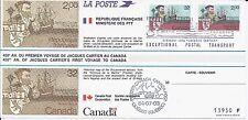 cpjc30 carte souvenir canada france